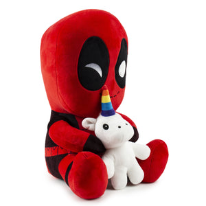 Marvel Deadpool Riding a Unicorn HugMe Vibrating Plush - Kidrobot - Designer Art Toys