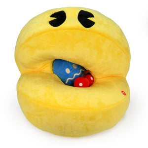 "Pac-Man Hungry Pac-Man 15"" Interactive Plush Pac with Sound Chip - Kidrobot - Designer Art Toys"