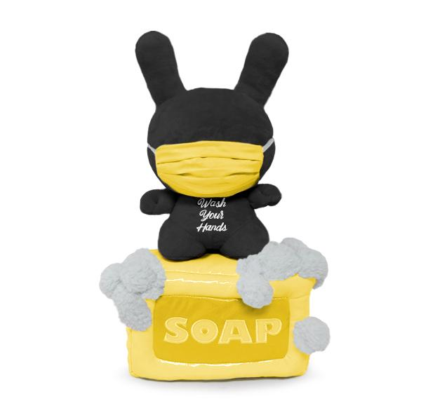 "Soap 8"" Dunny Plush - KR Exclusive Black Edition (PRE-ORDER) - Kidrobot - Designer Art Toys"