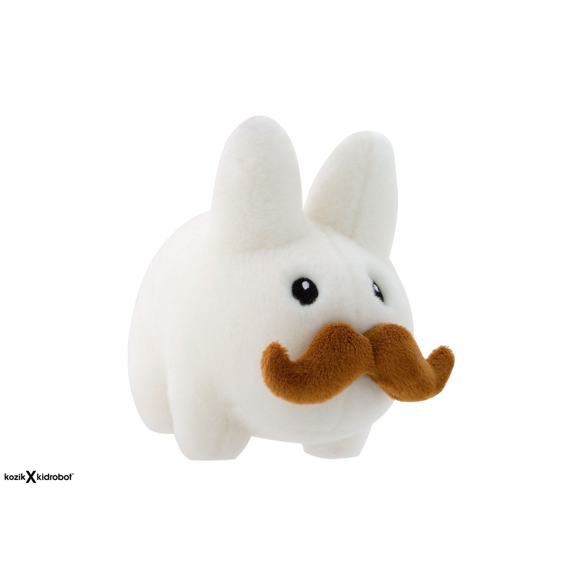 "Stache Labbit Small 7"" White Stuffed Animal Plush - Kidrobot"
