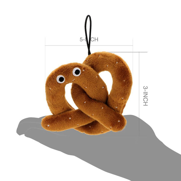 Super Soft Stuffed Animals For Babies, Yummy World Hans Pretzel Small Carnival Plush Kidrobot
