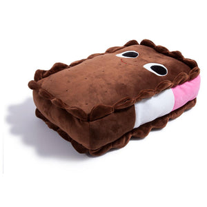 Yummy World Large Sandy Neapolitan Ice Cream Sandwich Food Plush - Kidrobot - Designer Art Toys