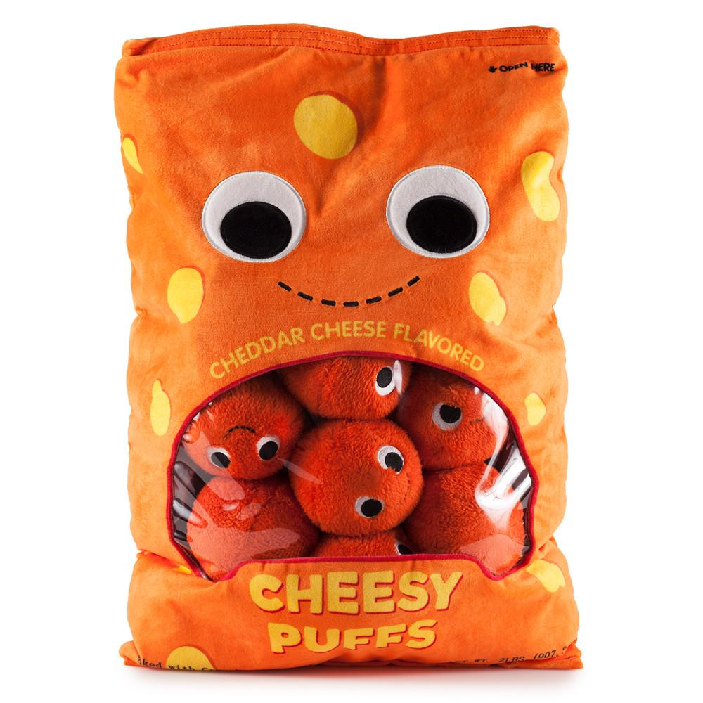 Yummy World XL Cheesy Puffs Food Plush - Kidrobot - Designer Art Toys
