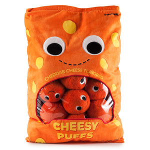 Yummy World XL Cheesy Puffs Interactive Food Plush (PRE-ORDER) - Kidrobot - Designer Art Toys