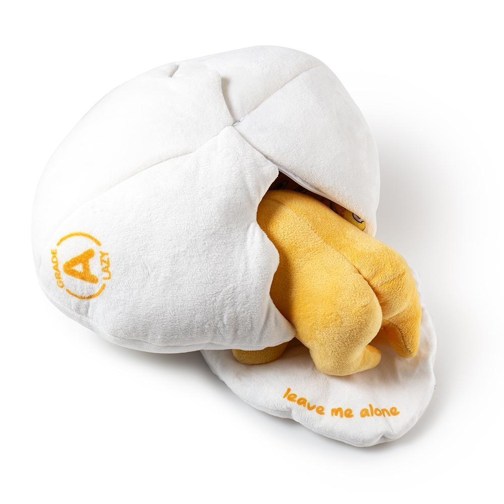 Sanrio Gudetama Lazy Egg Medium Plush by Kidrobot - Kidrobot - Designer Art Toys