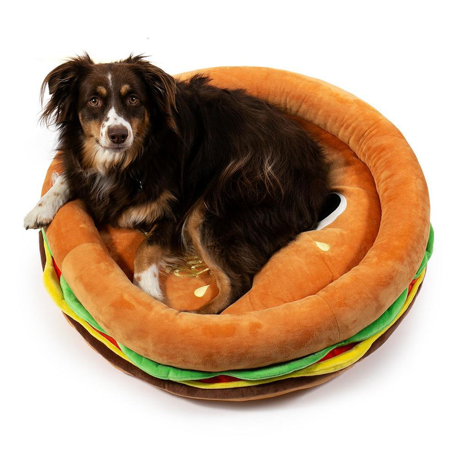 Polyester - Yummy World Pets: Premium Burger Plush Dog Bed