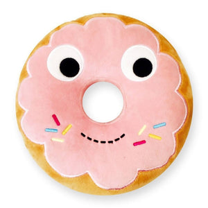 "Yummy World 10"" Pink Donut Plush Pillow - Kidrobot - 1"