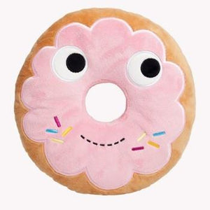 "Yummy World 10"" Pink Donut Plush Pillow - Kidrobot - Designer Art Toys"