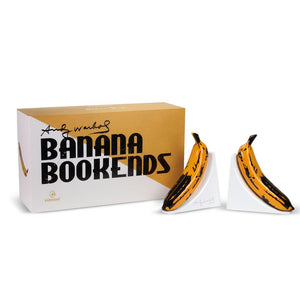 Kidrobot x Andy Warhol Resin Banana Bookends - Yellow Edition - Kidrobot - Designer Art Toys