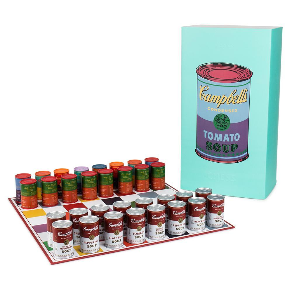 Vinyl - Andy Warhol Campbells Soup Can Chess Set