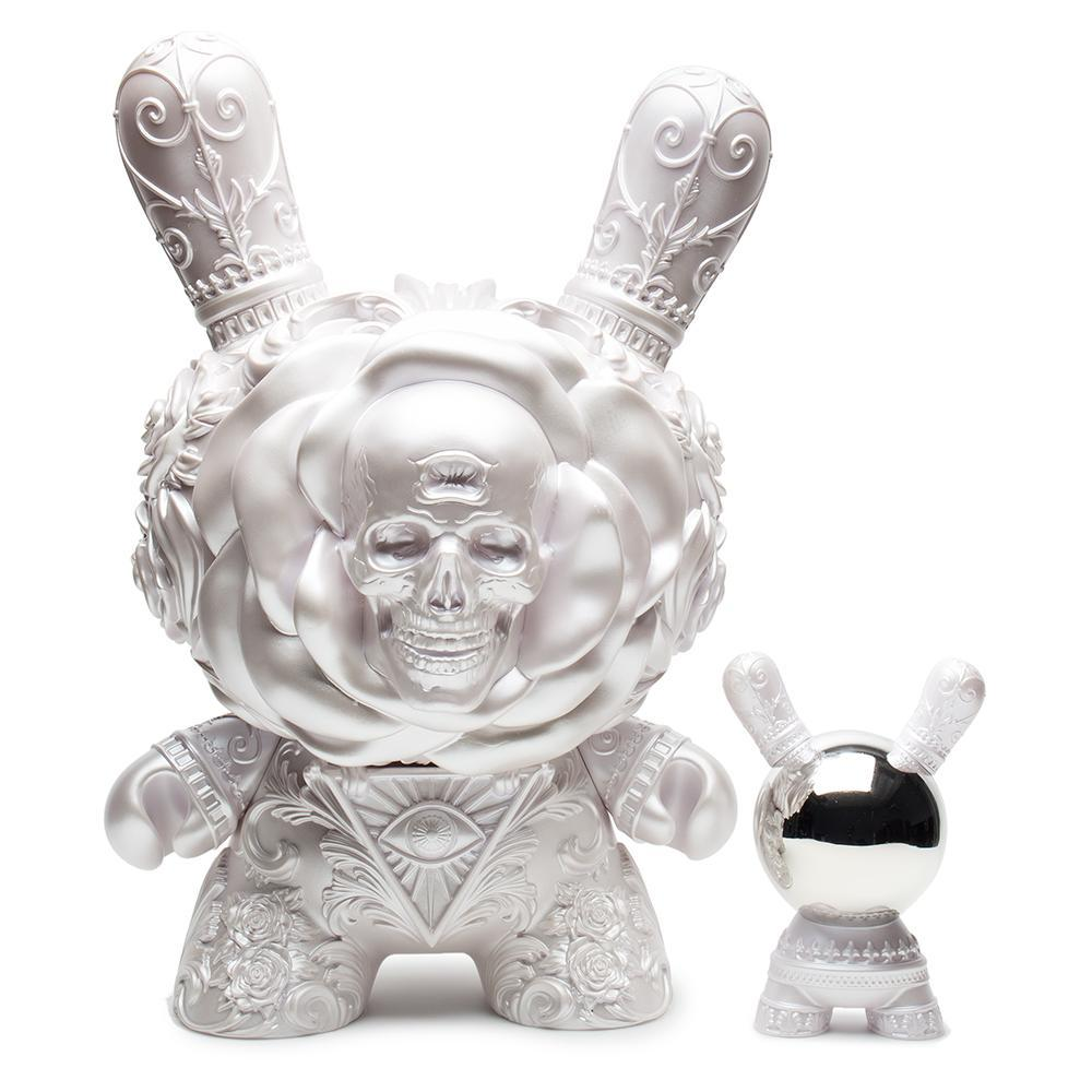 "Arcane Divination Clairvoyant 20"" Pearlescent White Dunny by JRYU - Kidrobot - Designer Art Toys"