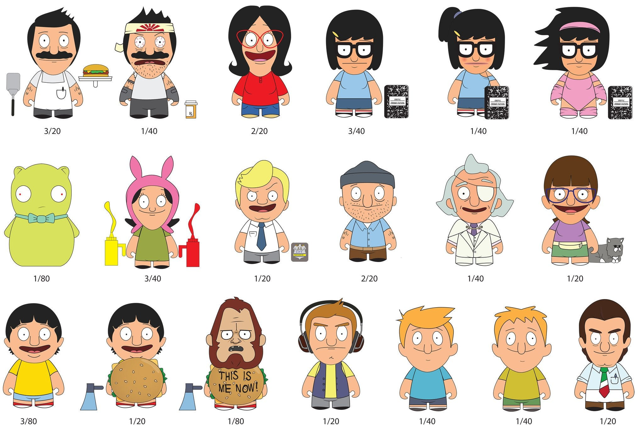 bobs burgers 3 blind box mini figure series by kidrobot