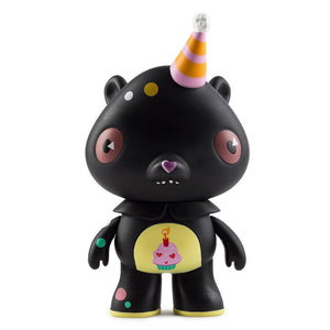 Vinyl - Care Bears Black Birthday Bear Art Figure By Kathie Olivas