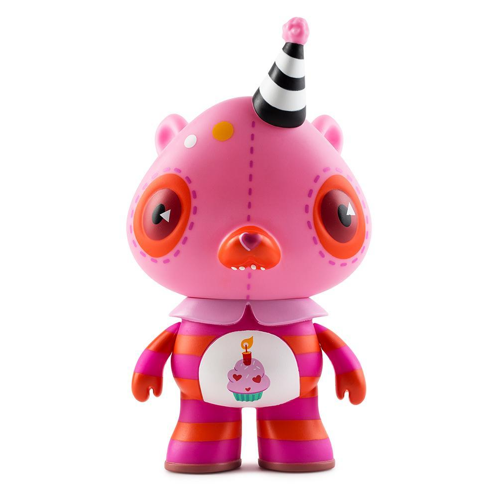 Care Bears Pink Birthday Bear Art Figure by Kathie Olivas - Kidrobot - Designer Art Toys