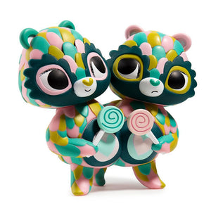 Care Bears Share Bear Green Art Figure by Jordan Elise Perme - Kidrobot - Designer Art Toys