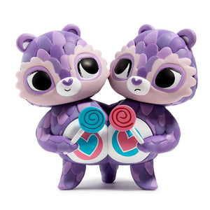 Vinyl - Care Bears Share Bear Purple Art Figure By Jordan Elise Perme
