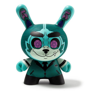 "Vinyl - Cash Wolf Billionaire Blue 5"" Dunny Art Figure By Josh Divine - KR Exclusive"