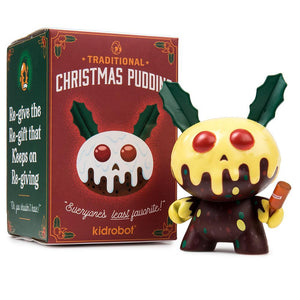 "Vinyl - Christmas Pudding 3"" Dunny Mini Figure By Kronk"