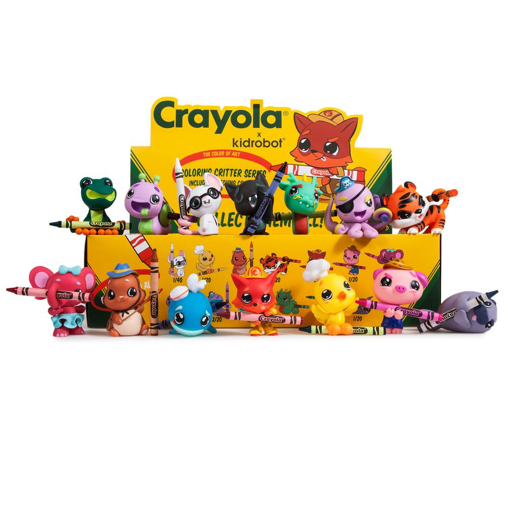 crayola coloring critters blind box mini series kidrobot 1