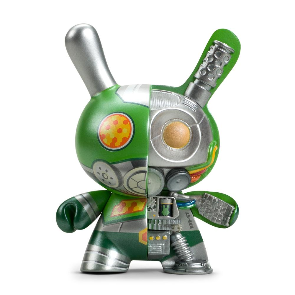 "Dairobo-B Mecha Half Ray 5"" Dunny by Dolly Oblong - Kidrobot.com Exclusive Green Edition - Kidrobot - Designer Art Toys"