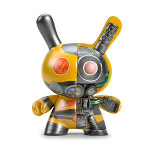 "Dairobo-B Mecha Half Ray 5"" Dunny by Dolly Oblong - Yellow Edition - Kidrobot - Designer Art Toys"