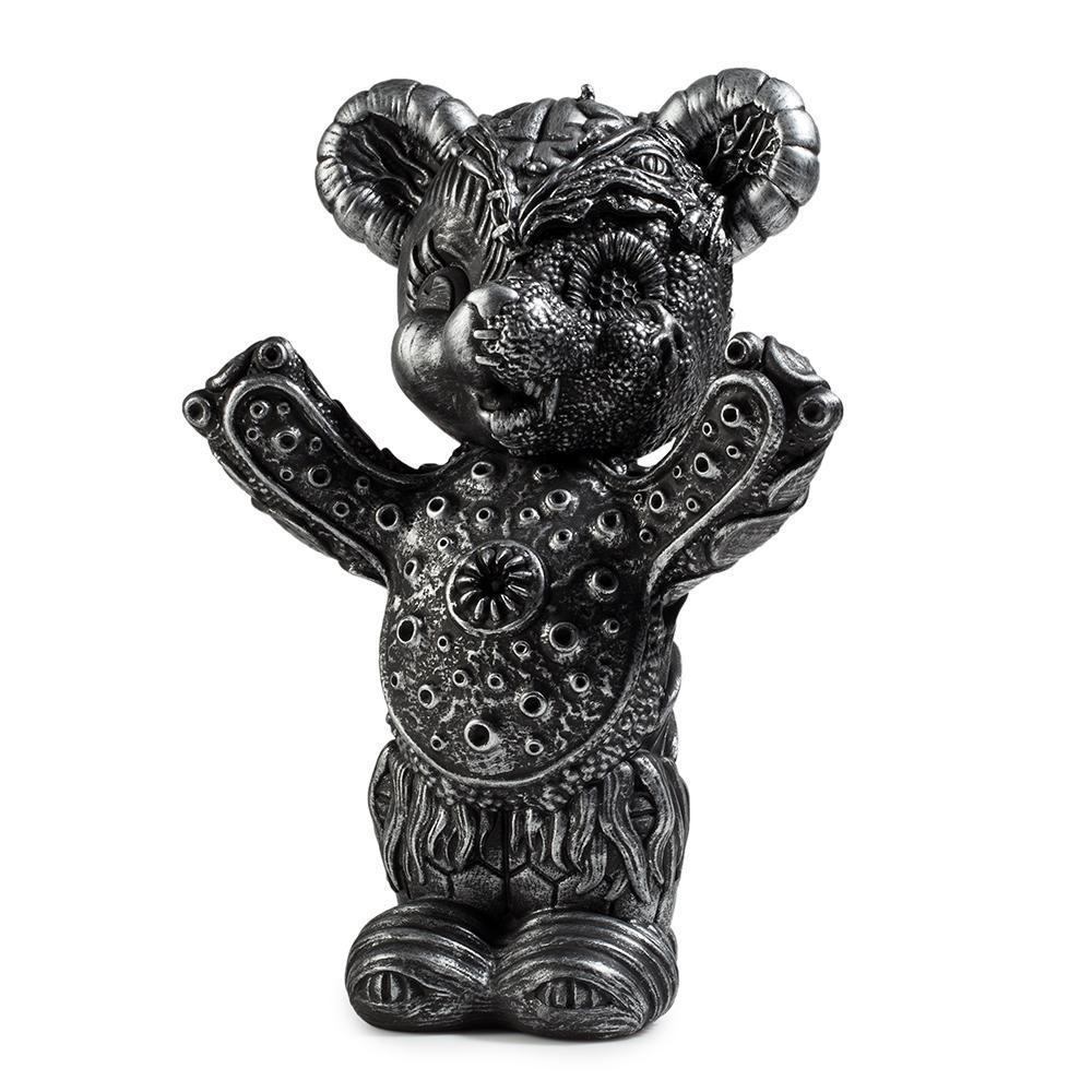 Free Hugs Bear Art Figure by Frank Kozik - Kidrobot.com Exclusive Silver Edition - Kidrobot - Designer Art Toys