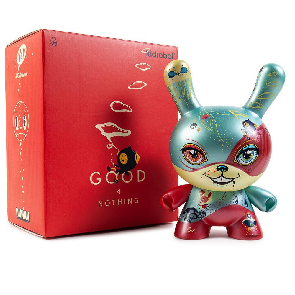 "Good 4 Nothing 8"" Dunny Art Figure by 64 Colors - KR Exclusive - Kidrobot - Designer Art Toys"