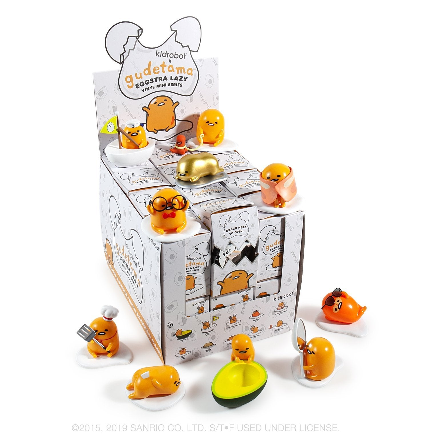 Gudetama Eggstra Lazy Vinyl Mini Figure Series by Kidrobot - Kidrobot