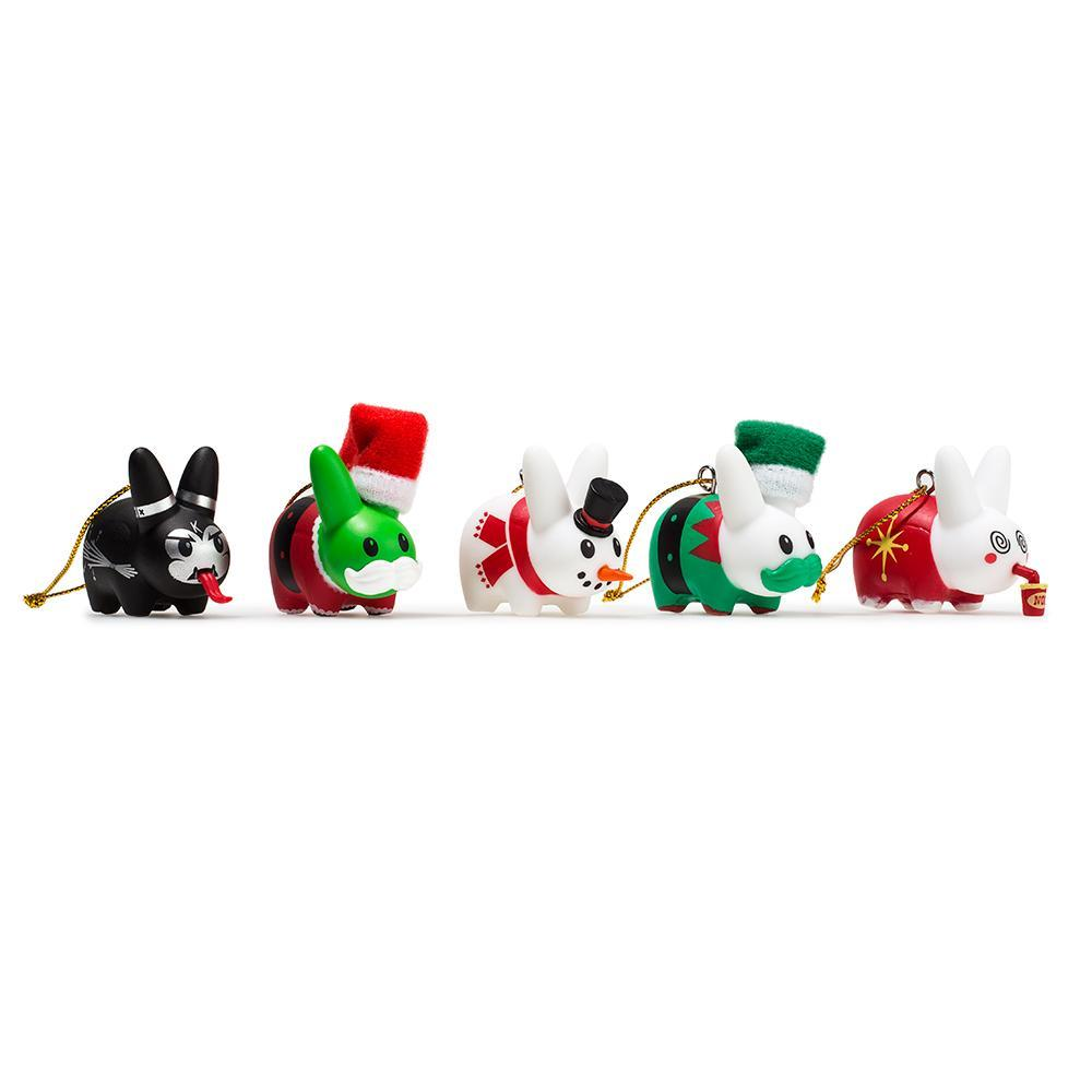 Happy Labbit Christmas Tree Ornaments 5-Pack - Kidrobot - Designer Art Toys