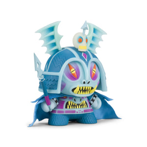 "Harbinger 8"" Dunny Art Figure by Martin Ontiveros - GID Blue Edition - Kidrobot - Designer Art Toys"