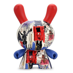 "Jean-Michel Basquiat Masterpiece Obnoxious Liberals 8"" Dunny - Broad Exclusive - Kidrobot - Designer Art Toys"