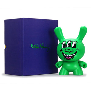 "Keith Haring Masterpiece Three Eyed Face 8"" Dunny Art Figure - Kidrobot - Designer Art Toys"