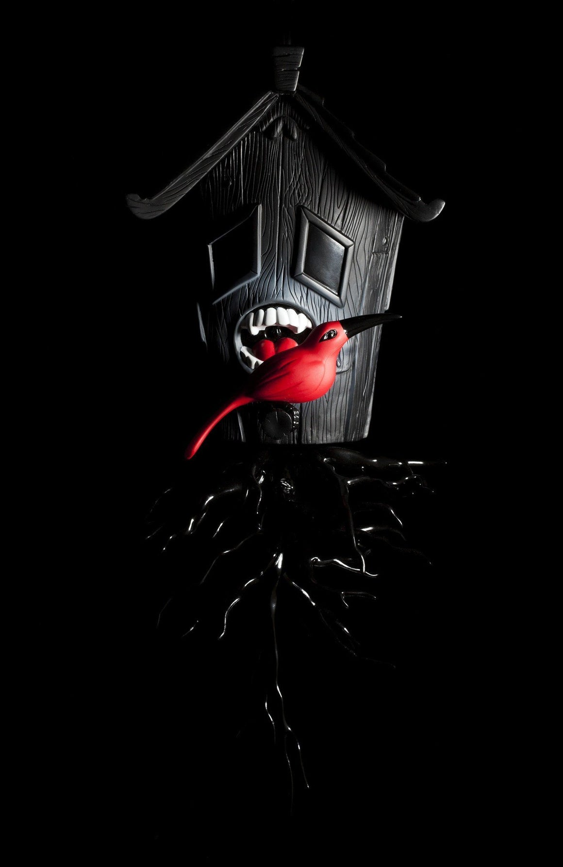 Kidrobot Black Domestic Hunger Premium Wall Figure - Kidrobot