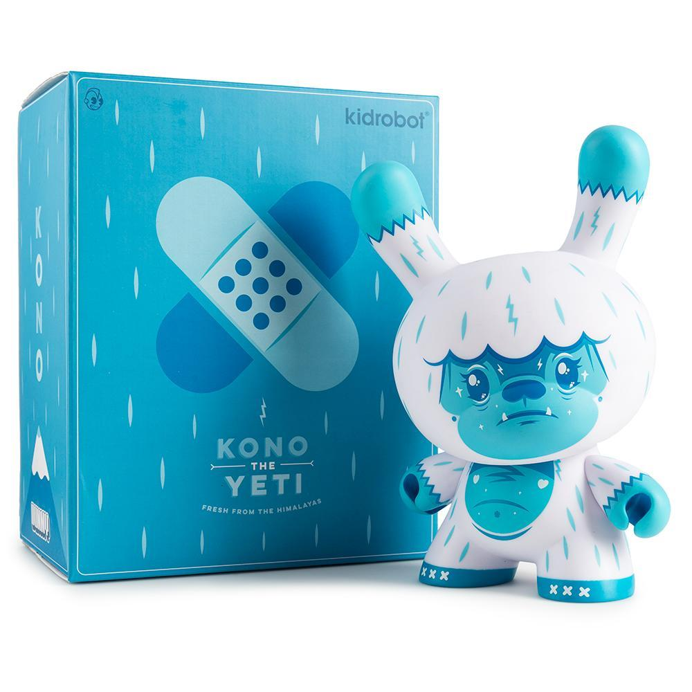 "Kono The Yeti 8"" Ice Blue Dunny Art Figure by Squink - Kidrobot - Designer Art Toys"