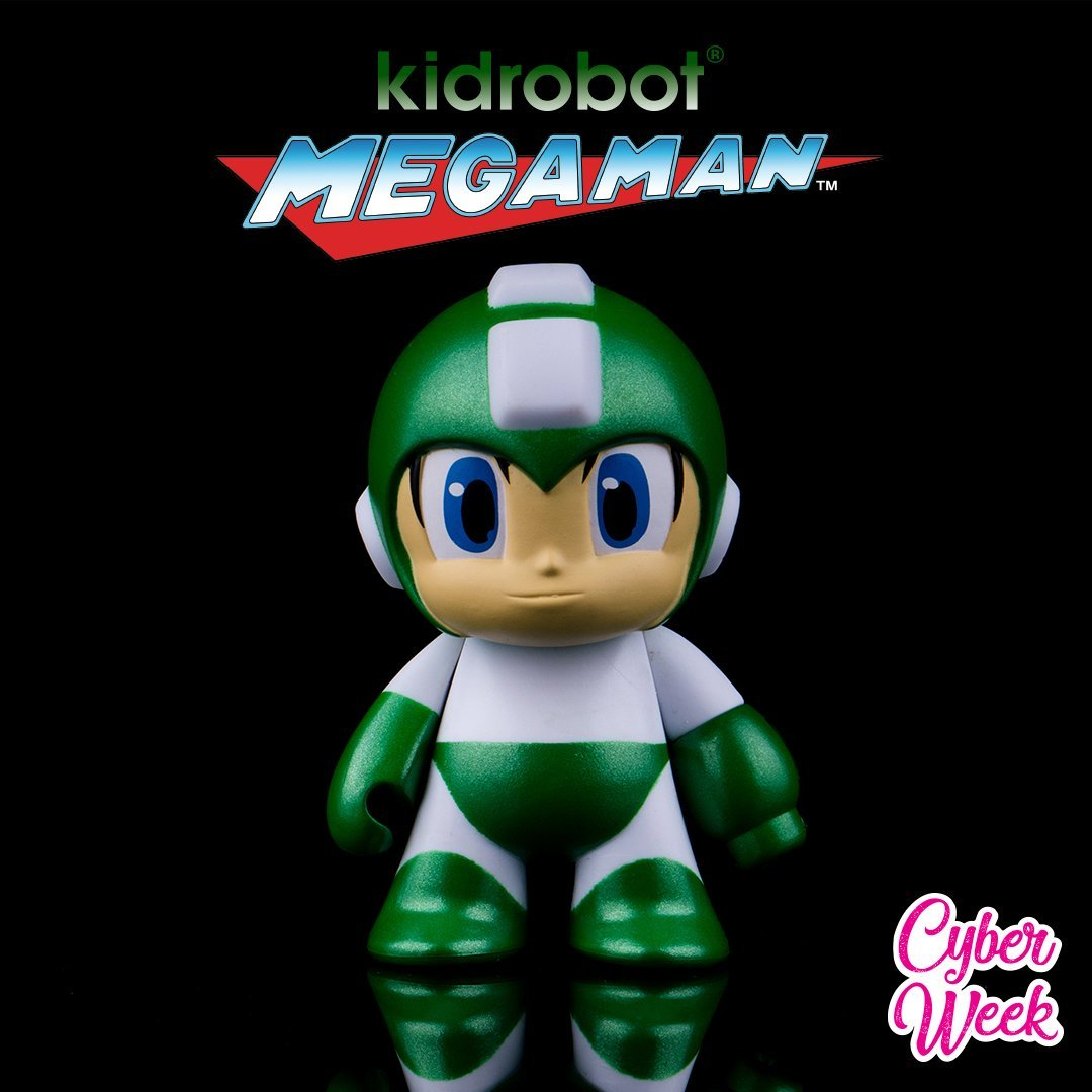 "Vinyl - Metallic Green Mega Man 3"" Figure By Kidrobot"