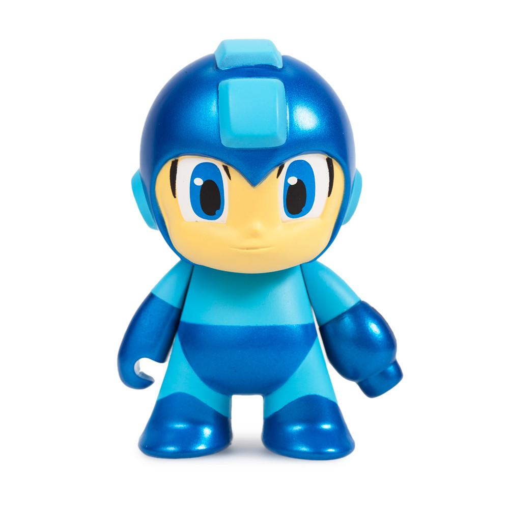 "Metallic Blue Mega Man 3"" Mini Figure by Kidrobot - Kidrobot - Designer Art Toys"
