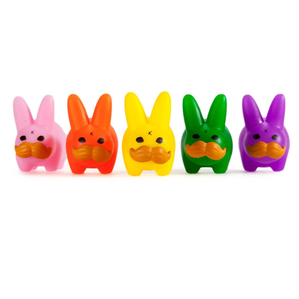 Vinyl - PRIDE 'Stache Labbit Art Toy 5-Pack By Frank Kozik