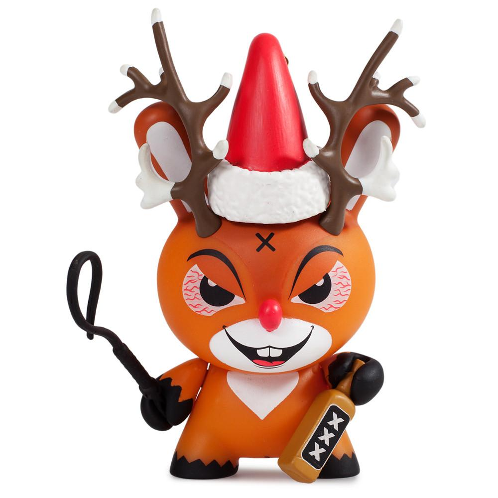 "Rise of Rudolph 3"" Holiday Dunny by Frank Kozik - Kidrobot - 1"