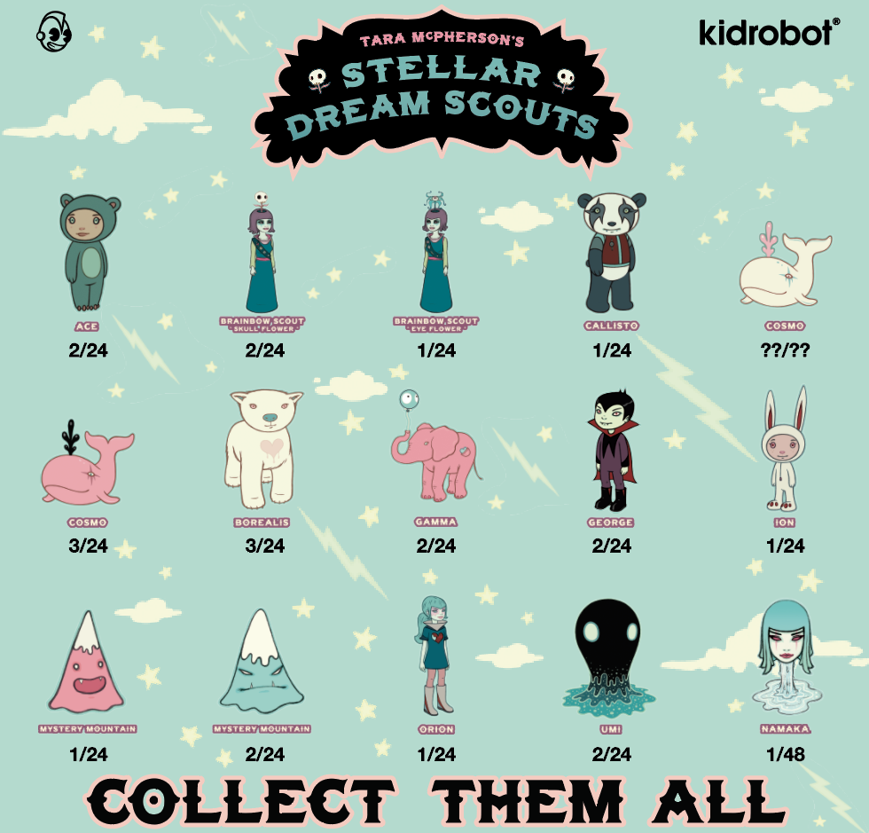 Kidrobot x Tara McPherson STELLAR DREAM SCOUTS MYSTERY MOUNTAIN BLUE Figure