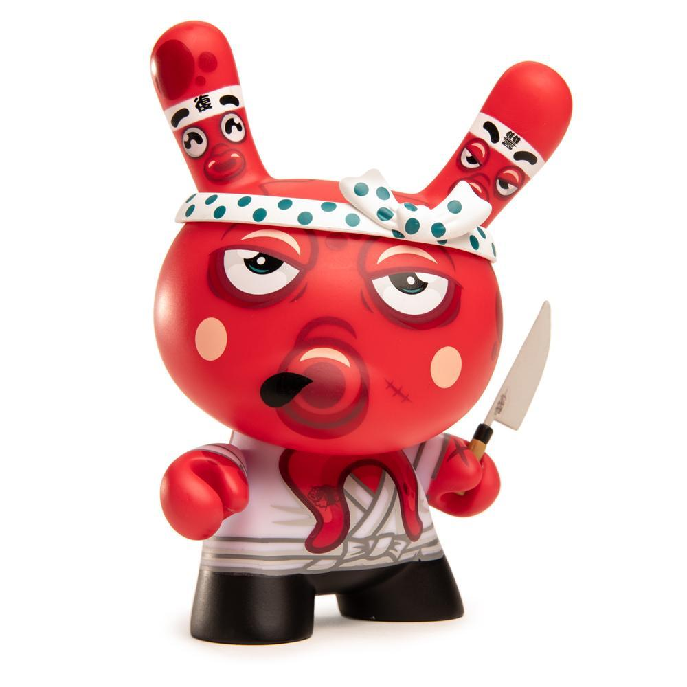 "Tako's Revenge 5"" Dunny Art Figure by Fakir - Red Edition - Kidrobot - Designer Art Toys"