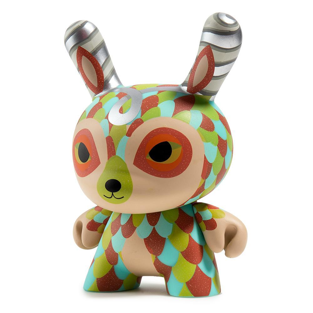 "Vinyl - The Curly Horned Dunnylope 5"" Dunny Art Figure By Horrible Adorables"