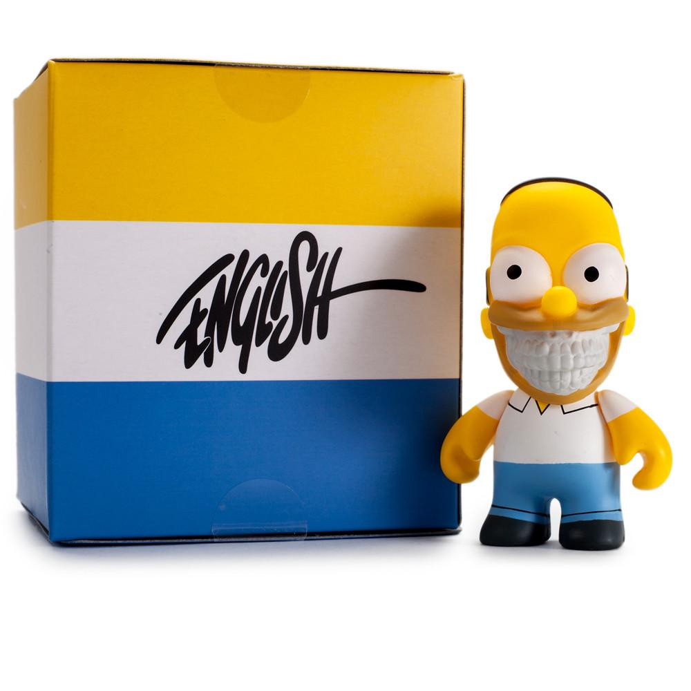 "The Simpsons Homer Grin 3"" Figure by Ron English - Kidrobot"