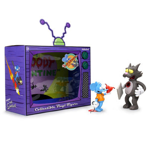 The Simpsons Itchy and Scratchy Vinyl Art Figure - My Bloody Valentine Edition - Kidrobot - Designer Art Toys
