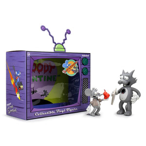 The Simpsons Itchy and Scratchy Vinyl Art Figure - Vintage Edition - Kidrobot - Designer Art Toys