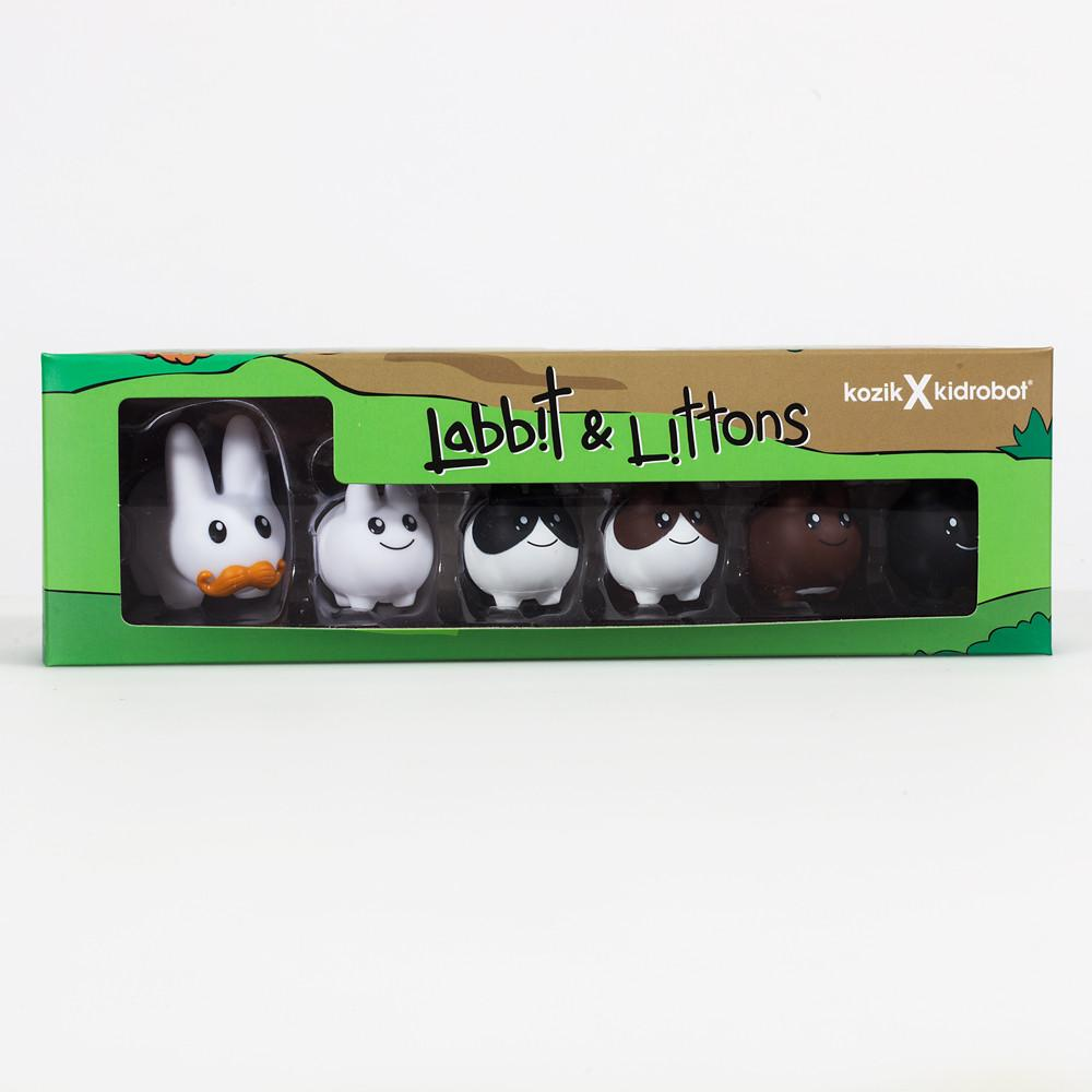 "Vinyl 1.5"" Labbit with Littons 6-Pack - Kidrobot"