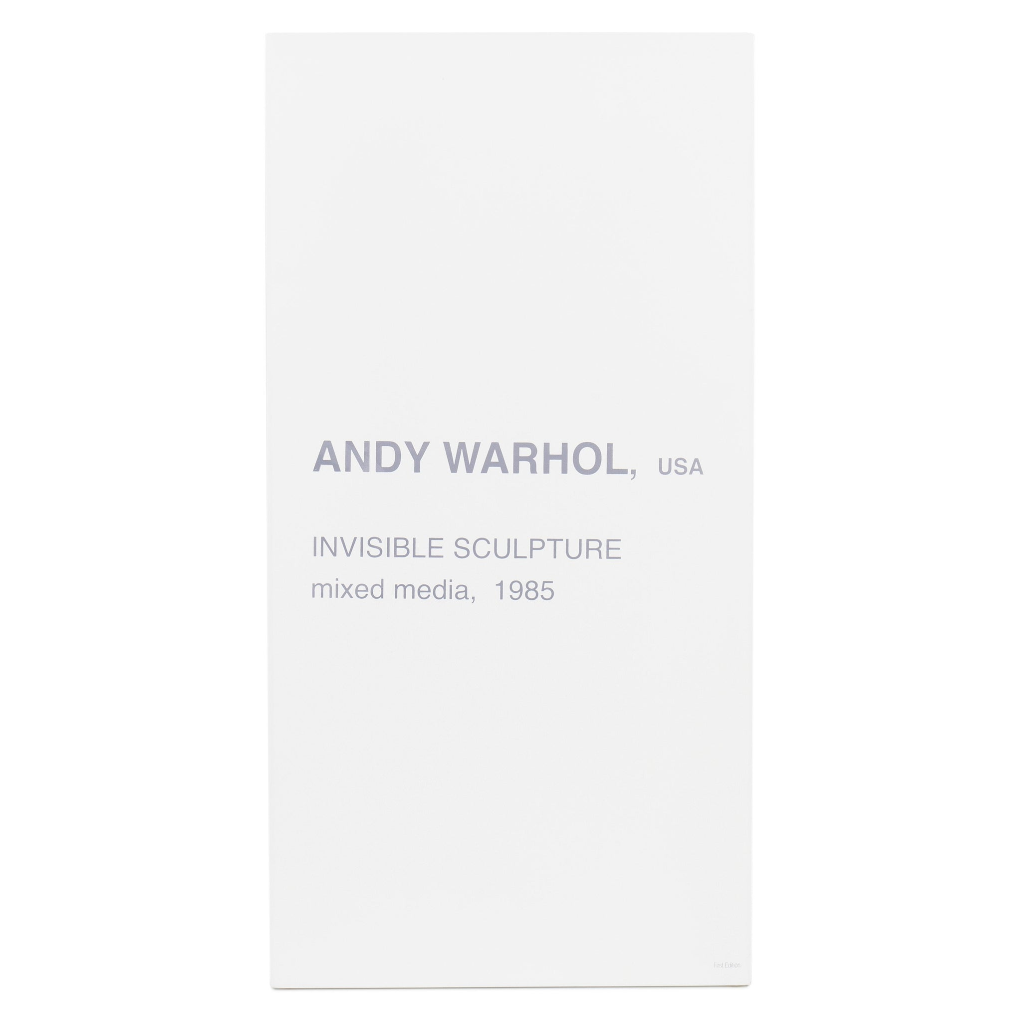 Andy Warhol The Invisible Sculpture - Kidrobot
