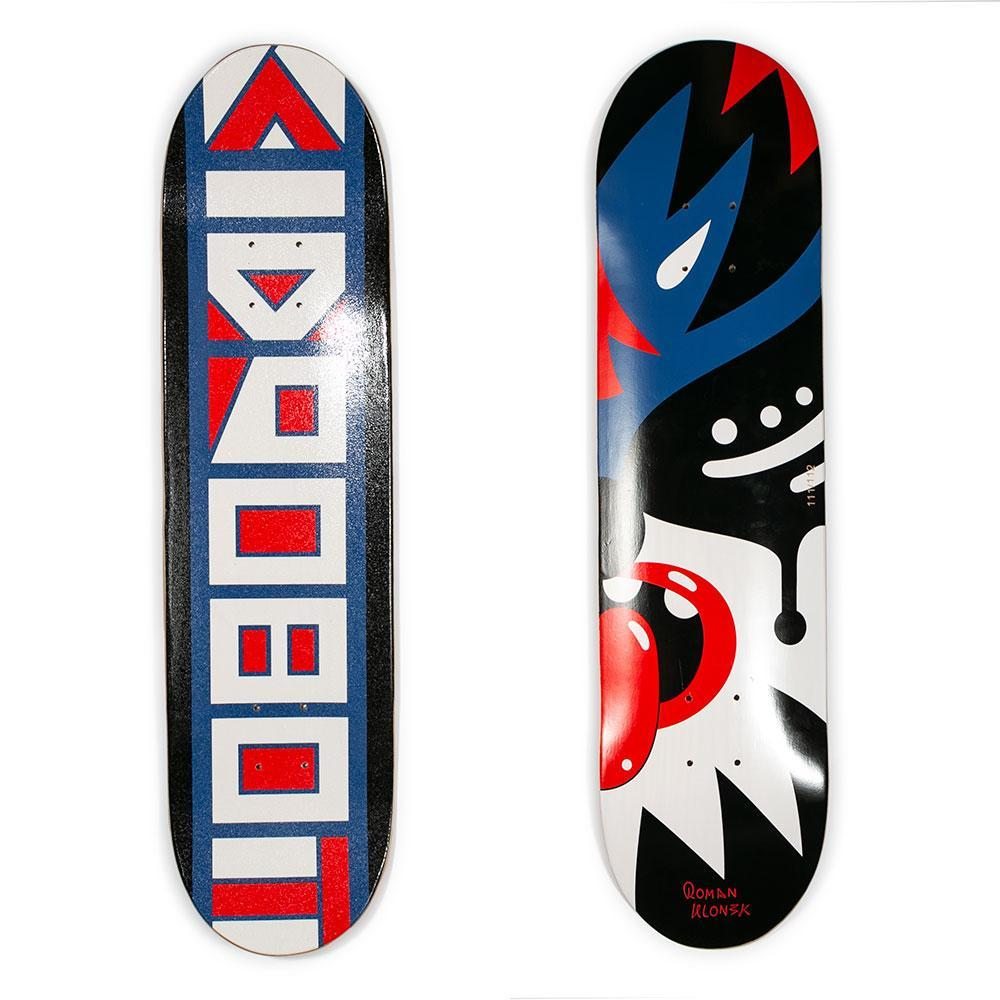 Wood - Limited Edition Kidrobot Skateboard Deck By Roman Klonek