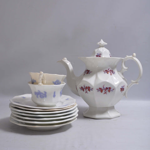 Ironstone Teapot/Cups