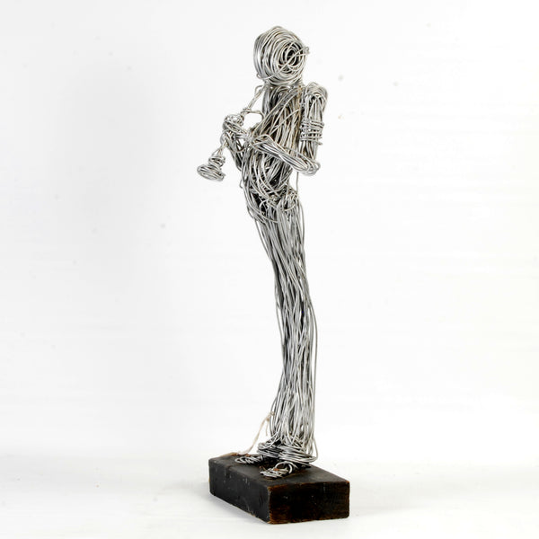 Wire Figure With Trumpet