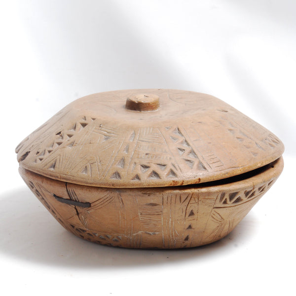 African Covered Bowl